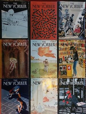 New Yorker magazines October through December 2017 - 9 issues