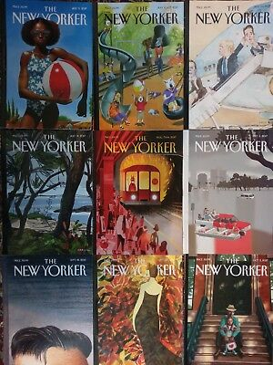 New Yorker magazines July through October 2017 9 issues