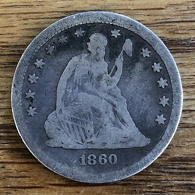 1860 Seated Liberty Quarter SCARCE & EARLY  NICE PATINA & DETAILS *NO RESERVE*!!