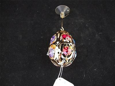 Crystocraft Egg Shaped Colourful Hanging Ornament with Swarovski Crystals.