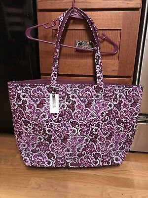 New w/tags Vera Bradley Reversible Lilac Paisley Iconic Grand Tote, MSRP $88