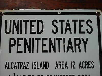 Alcatraz Penitentiary Porcelain Prison Sign Police Sherriff Law Court Lawyer 57