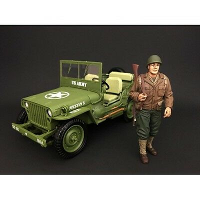 1/18 Scale - WWII US Army Soldier I - AD-77410 - AMERICAN DIORAMA