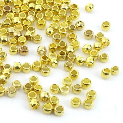 100x Quetschperlen 1,5mm Kugel Crimps GOLD Crimp Beads