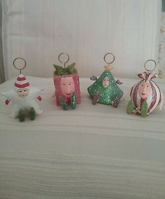 Department 56 Patience Brewster Christmas Placecard Holders