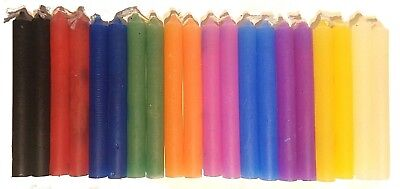 "LOT OF 20 Assorted Colors Chime Spell Candles 4"" Pagan Wicca Altar Ritual #2"