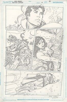 Action Comics vol. 2 #14 page 2 by Chris Sprouse, Superman, Wonder Woman, Cyborg