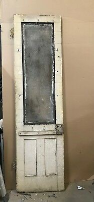 Vintage Glass Door with Etched Glass- 24 x 87 x 1-1/4- Salvage