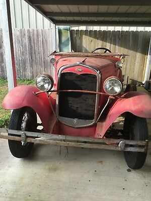 1930 Ford Model A CONVERTABLE rat rod street rod 1930 ford barn find