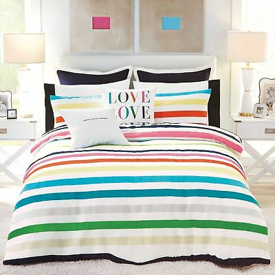 Kate Spade Candy Stripe Comforter Set (Twin/Twin XL Long) with Pillow Sham