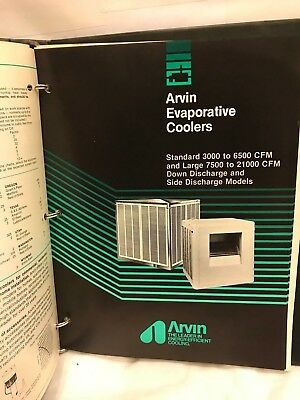 Arvin Evaporative Cooler Manual. Used Rare