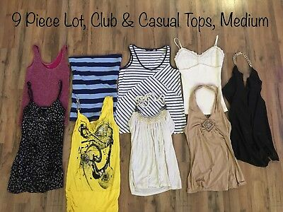 9 Piece Lot Spring/Summer Clothes, Club, Casual, Body Central, Poof, Wet Seal