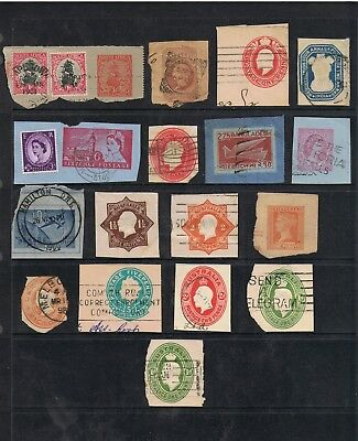 Selection Of World And Australia Postal Stationery Cutouts.