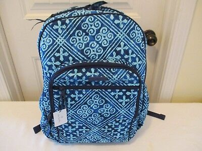 Vera Bradley New With Tags Cuban Tiles Campus TECH Campus Backpack