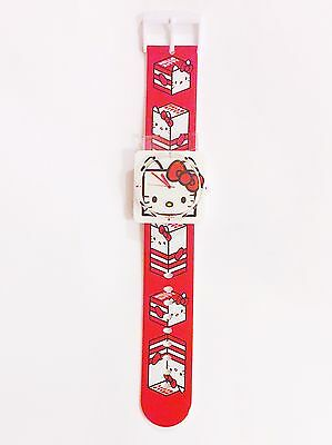 Sanrio Hello Kitty Square Face Wrist watch, Red white plastic Women's girls