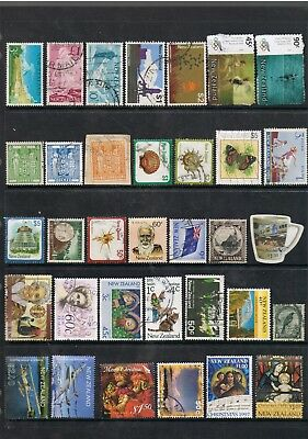 Selection Of Stamps From New Zealand Different Eras.