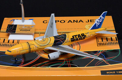 """""""Chinese NEW YEAR SALE"""" JC WINGS 1:200 ANA  B777-200ER JA743A C-3PO STAR WARS"""