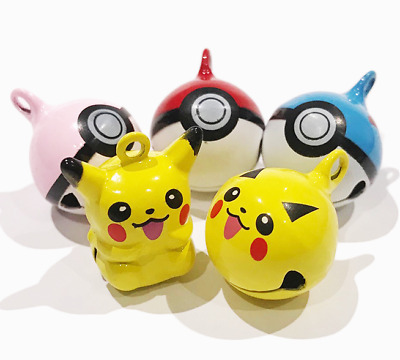 Pokemon Replacement Bell for Dogs & Cats - Collar Bell Pikachu Pokeball ID Tag