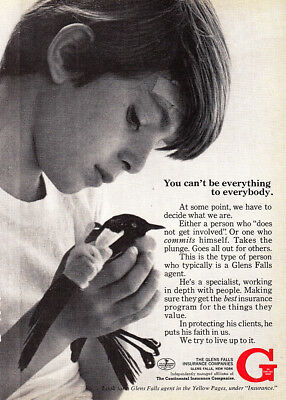 1970 Glen Falls Insurance: Can't Be Everything to Everybody Vintage Print Ad