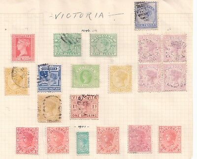 VICTORIA  1896 -1901 MINT and FINE USED HIGH CV $