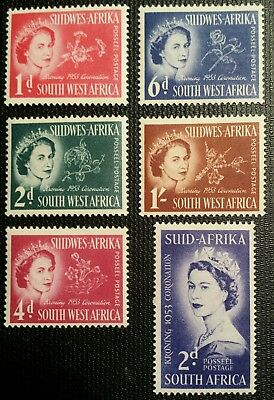 Mnh Og 1953 Queen Elizabeth Ii Coronation Stamps South West Africa  Collection