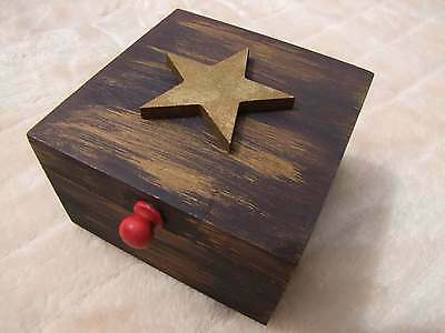 Pentagram Wooden Box Handmade - Witches Hotline