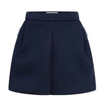BURBERRY Childrens Teens Navy Pleated Shorts / Skorts 14 Y Or Womens XS Designer
