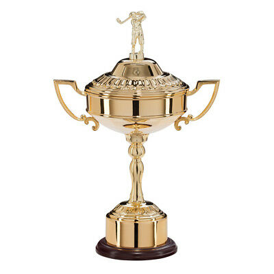 Sterling Gold Plated Golf Trophy Presentation Cup - FREE ENGRAVING