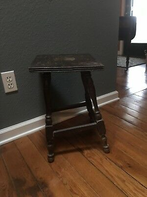 Old Wooden Gout? Stool Footstool Foot Stool
