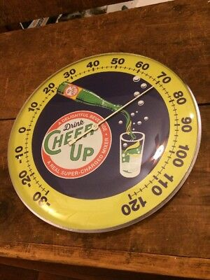 DRINK CHEER UP THERMOMETER SIGN Soda Sign Ski Sprite Root Beer Mt Dew Coke