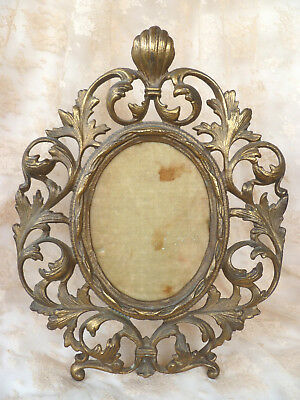 Genuine~Antique~Victorian~Ornate~French~Chic~Brass~Photo~Picture~Frame