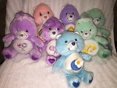 Care Bears Soft Toys 20cm, Collection Of 7