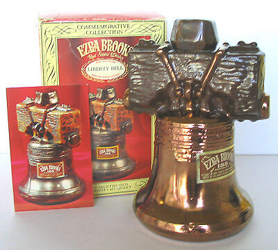 America Independence Symbol Liberty Bell Philadelphia Brooks Copper Decanter