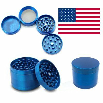 1PC Tobacco Herb Spice Grinder 4 Piece Herbal Alloy Smoke Metal Crusher US STOCK