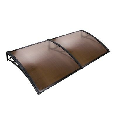 1x2M Window Door Awning Canopy Patio UV Rain Outdoor Cover Sun Shield Brown #N