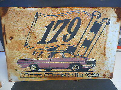 HOLDEN EH  MORE  MUSCLE IN  64  RETRO TIN SIGN $10 start
