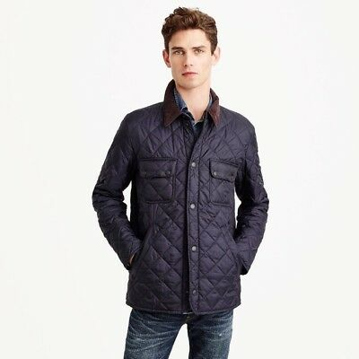 Barbour Tinfold Jacket Men's Small Navy Quilted J Crew