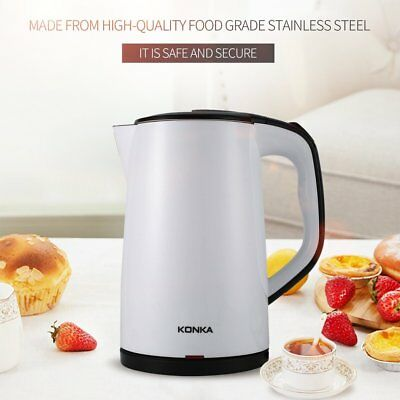 US 1000W 1.5Liter Electric Kettle Tea Hot Water Boiler Heater Stainless Steel A