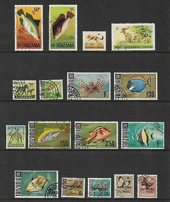 TANZANIA mixed collection No.4, 1965-1980, incl official opt