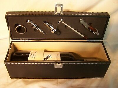 Vintage Barware Bar Set Corkscrew Knife Fifth Leg Wine Thermometer Boxed