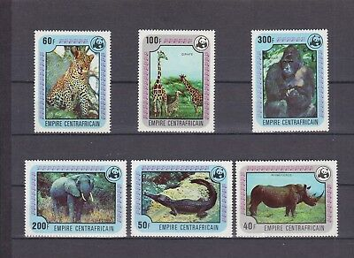 T46174 Zentralafrika Central Africa 532-537 postfr./mnh Tiere animals WWF