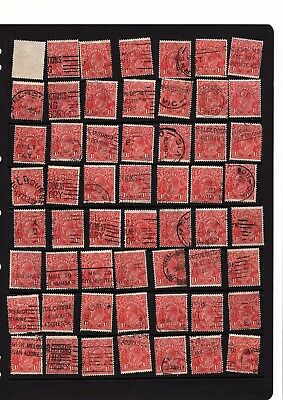 100+   1 1/2d KGV red shades die II  sml wmk - collection