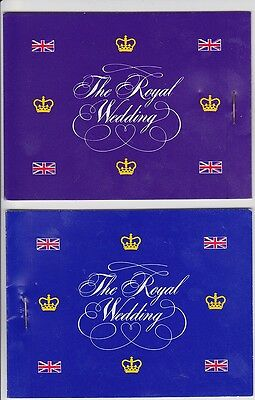 1981 Royal Wedding Booklets (2 Different)