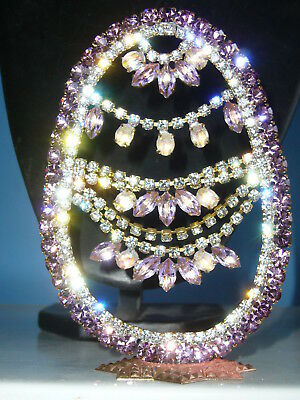 UNIQUE RHINESTONE  EASTER EGG AMAZING decoration *SIGNED BIJOUX M.G*  B188