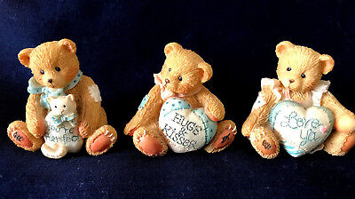 """Cherished Teddies x 3 Mini Figurines """"Can't Bear Being Without You"""""""