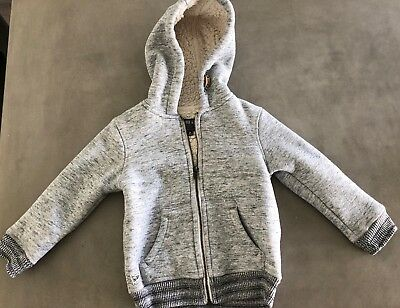 Industrie Kids - Indie & co. Grey Thick Warm Zip Up Hooded Jacket - Size 3