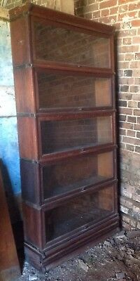 Oak Collectors Cabinet / Bookshelf - Stackable Sections Nice Brass Fittings