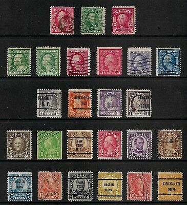 USA mixed early collection, 1894-1922, incl pre-cancels, used