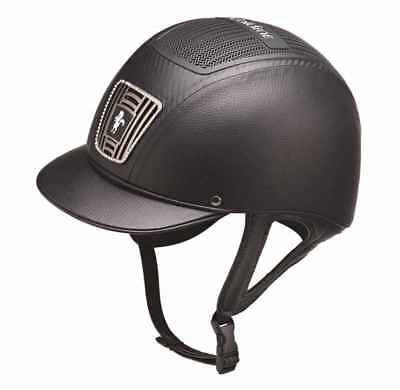 New Black Caldene Ultra Plus Riding Hat 6 1/2 (53Cm)Lightweight Jumping Helmet