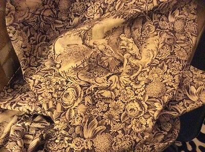 19th century length of French Fabric with 18th century pastoral scenes Victorian